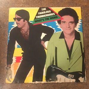 The Fabulous Thunderbirds Vinyl LP Album